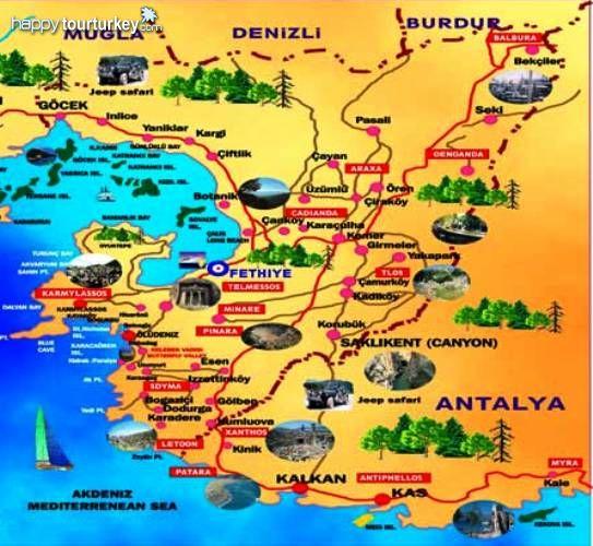 Mugla Turkey  city pictures gallery : Fethiye Map, Map of fethiye, mugla Fethiye Map, Turkey Fethiye Map